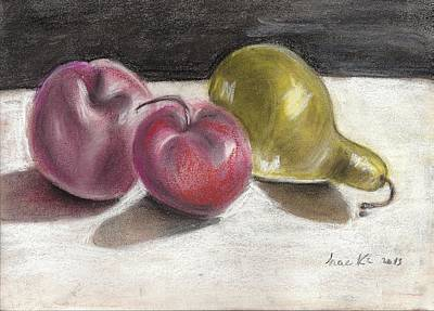 Apple And Pear Art Print