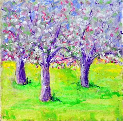 Pastel - Apple Blossom Time by Pat Olson