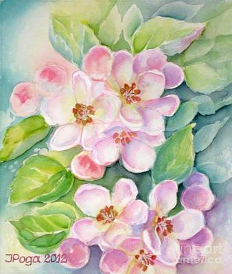 Apple Blossoms 1 Art Print by Inese Poga