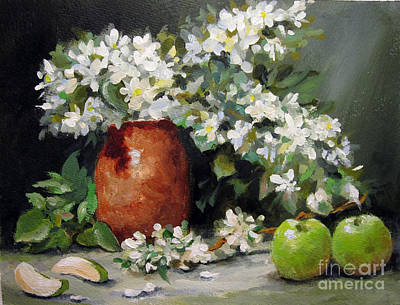 Art Print featuring the painting Apple Blossoms by Carol Hart