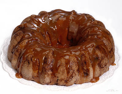 Kaffee Photograph - Apple Caramel Bundt Cake by Iris Richardson