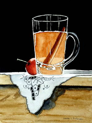 Painting - Apple Cinnamon Tea With Mug by Laurie Anderson