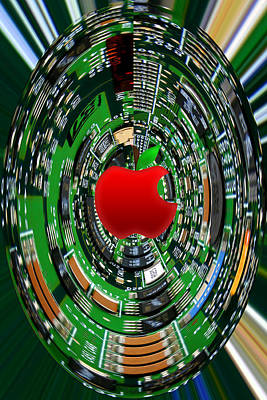 Apple Computer Abstract Art Print by Sandi OReilly