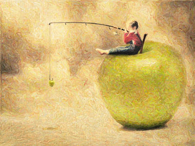 Colored Pencil Painting - Apple Dream by Taylan Apukovska