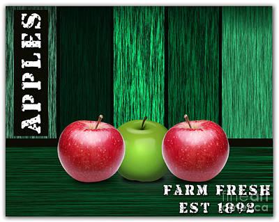 Fruits Mixed Media - Apple Farm by Marvin Blaine