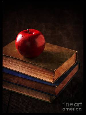 Library Photograph - Apple For Teacher by Edward Fielding