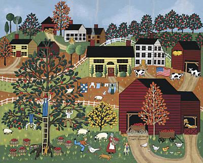 Picking Apples Painting - Apple Harvest by Medana Gabbard