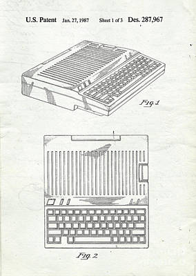 Computing Drawing - Apple IIe Computer Original Patent by Edward Fielding