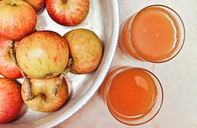 Food And Beverage Royalty-Free and Rights-Managed Images - Apple juice by Tom Gowanlock