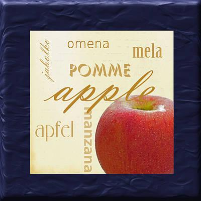 Translate Digital Art - Apple by Marti Snider