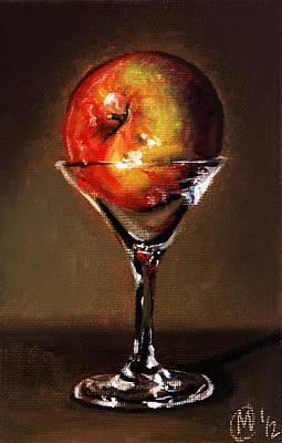 Apple Martini Painting - Apple Martini 2 by Maurice Morgan II
