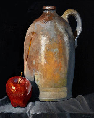 Crocks Painting - Apple Meets Crock by Catherine Twomey