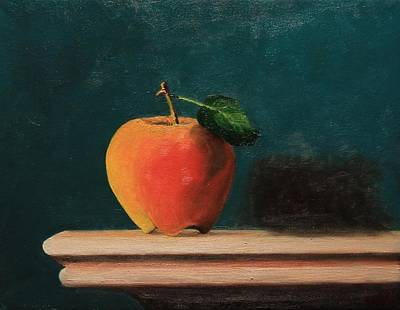 Painting - Apple by Michael Saunders