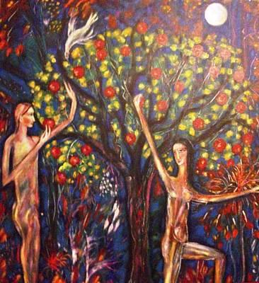 Fruit Tree Art Painting - Apple Of His Eye by Catherine Walker