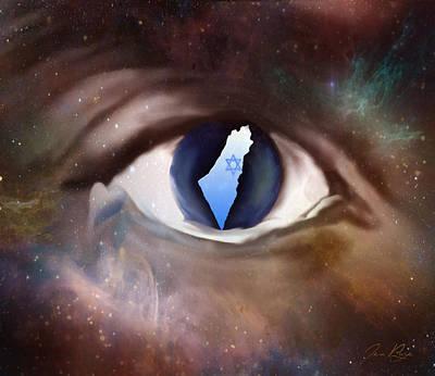 Jennifer Page Mixed Media - Apple Of His Eye by Jennifer Page