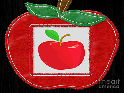 Hood Ornaments And Emblems - Apple on Apple by Tina M Wenger