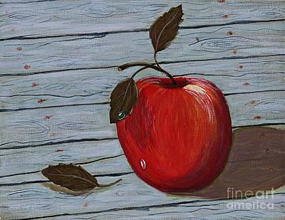 Apple On Board Art Print by Barbara Griffin
