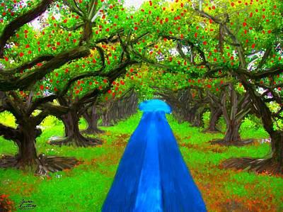 Katharine Hepburn - Apple Orchard by Bruce Nutting
