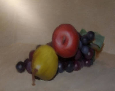 Painting - Apple Pear And Grapes by Dennis Buckman