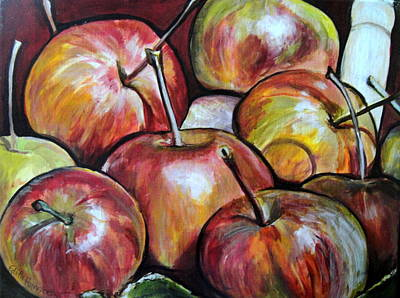 Painting - Apple Picking by Edith Hunsberger
