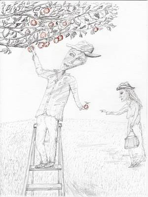 Apple Picking Art Print by Jim Taylor