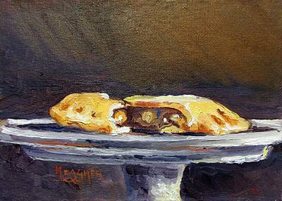 Fried Painting - Apple Pie On A Stem Server by Spencer Meagher