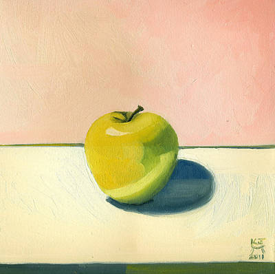 Painting - Apple - Pink And White by Katherine Miller
