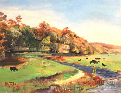 Painting - Apple River Valley Il. Autumn by Art By Tolpo Collection