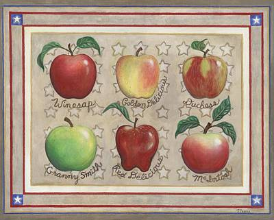 Apple Painting - Apple Sampler Two by Linda Mears