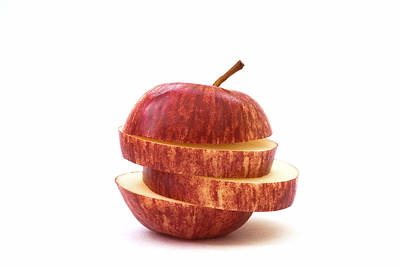 Apple Slices Art Print by Natalie Kinnear