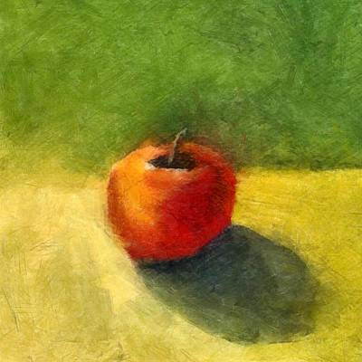Restaurant Painting - Apple Still Life No. 98 by Michelle Calkins