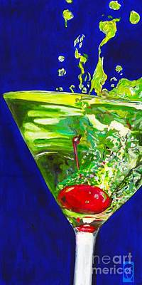 Apple Martini Painting - Apple Tini by Sue Cockrell