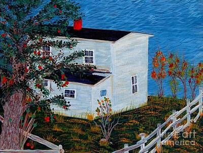 Painting - Apple Tree And Old House by Barbara Griffin