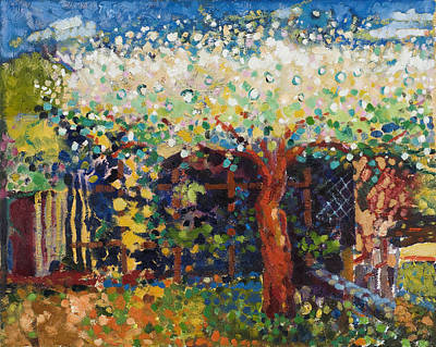 Spring Scenes Painting - Apple Tree Blossom by Marco Cazzulini