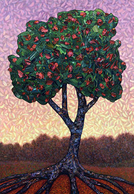 Painterly Painting - Apple Tree by James W Johnson