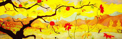 Ranson Painting - Apple Tree With Red Fruit by Celestial Images