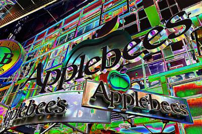 Applebee's Restaurant Sign At New York City Art Print