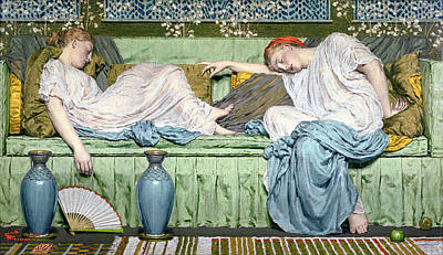 Exhausted Painting - Apples by Albert Joseph Moore