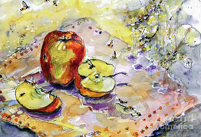 Painting - Apples And Bees French Country by Ginette Callaway