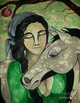 Apples And Horses Art Print by Amy Sorrell