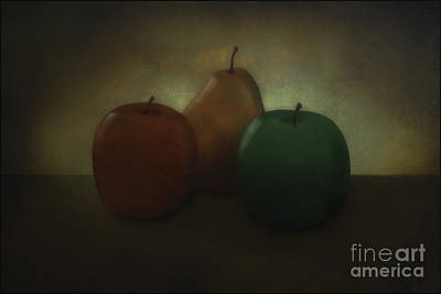 Apples And Pear Art Print