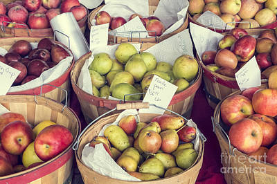 Photograph - Apples And Pears For Sale by Bryan Mullennix