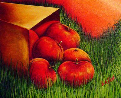 Apples At Sunset Art Print
