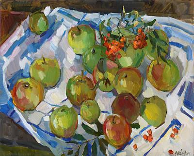 Painting - Apples By Makarikha by Juliya Zhukova