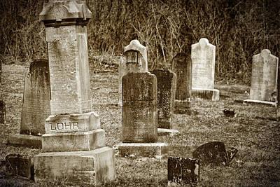 Headstones Photograph - Apples Church Cemetery by Joan Carroll