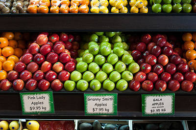 Granny Photograph - Apples For Sale At Grocery Store by Panoramic Images