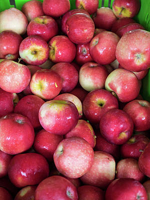 Healthy Eating Photograph - Apples For Sale At Street Market by Panoramic Images