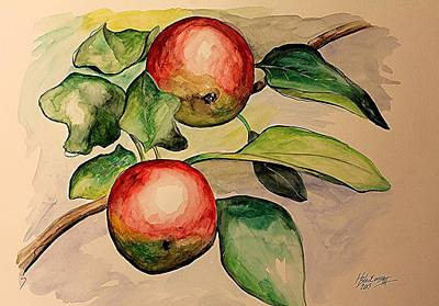 Painting - Apples by Henry Blackmon