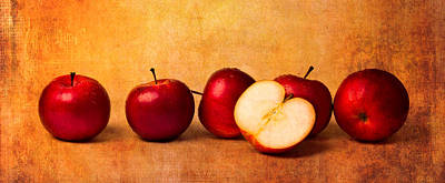 Apple Photograph - Apples In Red by Alexander Senin