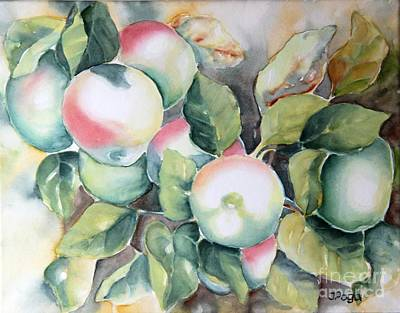 Painting - Apples by Inese Poga